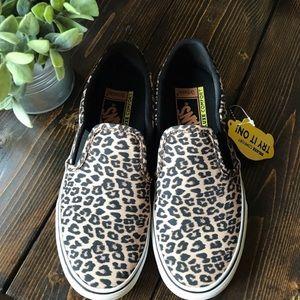 Vans Animal Print Leopard Slip-On Sneaker Shoe